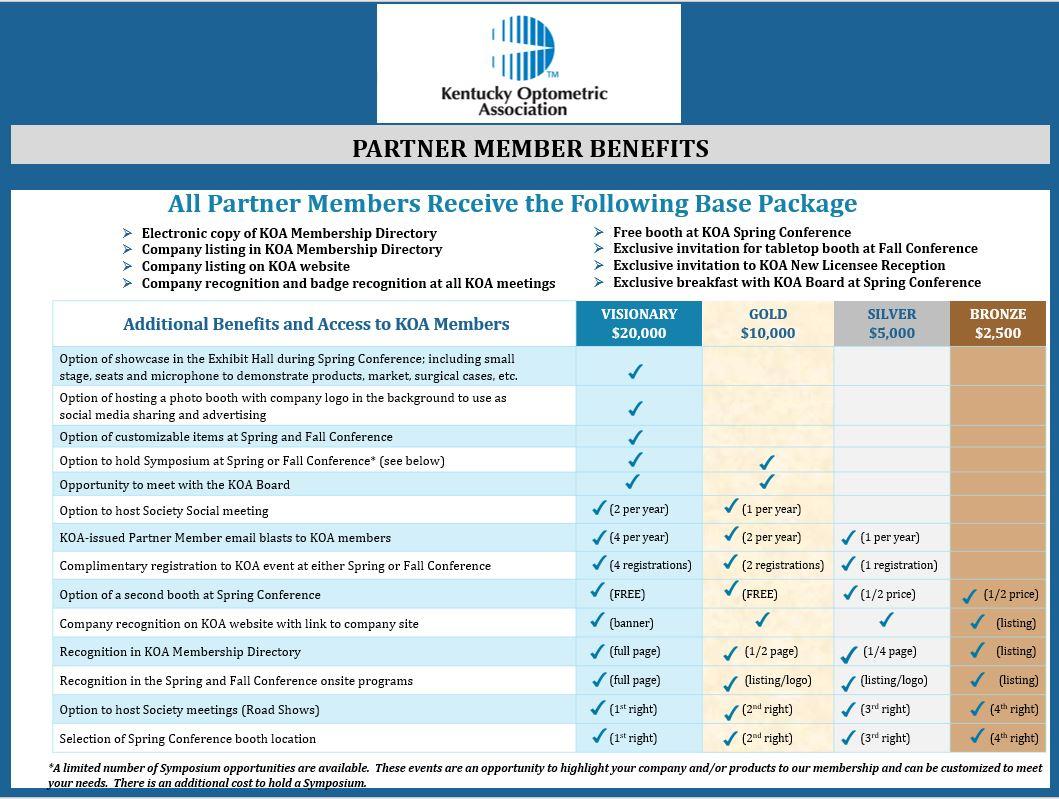 Partner Members - Kentucky Optometric Association